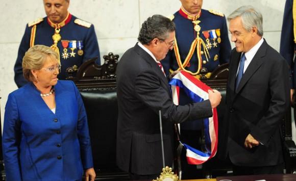 Sebastian Piñera en su investidura como Presidente de Chile. Foto: AFP