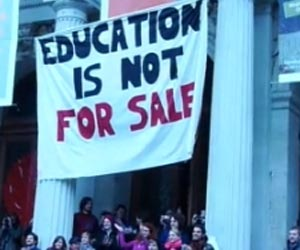 Estudiantes protestan en Viena