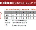 Resultados juego Habana - Industriales, 15 de marzo de 2010, Serie Nacional de Béisbol, Cuba