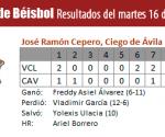 Resultados Villa Clara - Ciego de Avila, Serie Nacional de Béisbol, Cuba