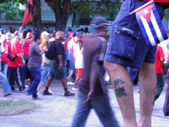 Cuba: desfile del 1ro de mayo. Foto Kaloian