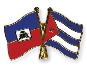 Banderas de Haití y Cuba
