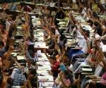 Segunda jornada del IX Congreso de la Unión de Jóvenes Comunistas (UJC), en el Palacio de Convenciones de La Habana, Cuba, el 4 de abril de 2010. Foto: Omara García Mederos