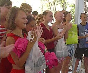 Niños de Chernóbil que han sido atendidos en Cuba. Foto de archivo
