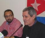 Enrique Ubieta (D), invitado a España por movimiento de solidaridad con Cuba