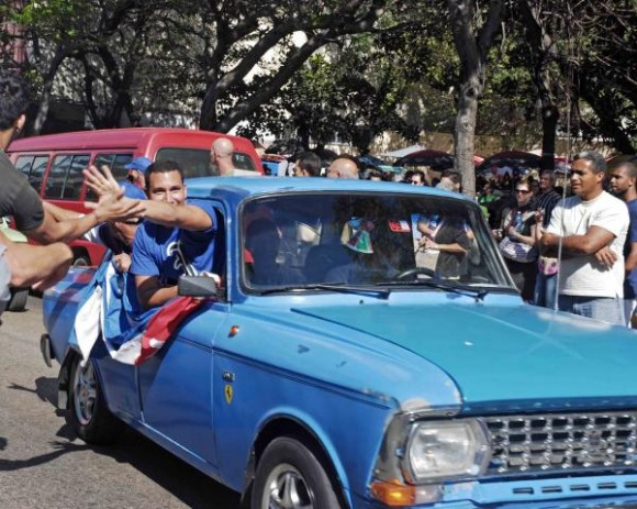 fBéisbol Cuba: Llegada a La Habana del equipo Industriales
