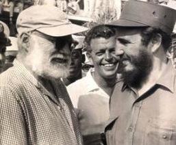Fidel y Ernest Hemingway en La Habana, en 1961.