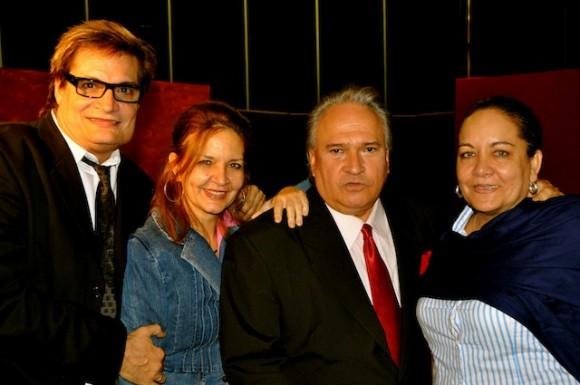 Amaury Pérez, Frank Fernández y Arleen Rodríguez