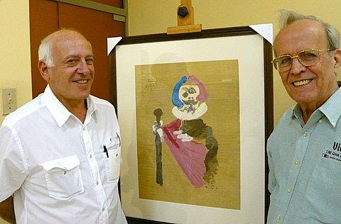 Gilbert Brownstone y Ricardo Alarcón de Quesada, presidente del Parlamento Cubano