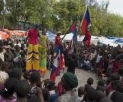 Haití: Niños haitianos participan en actividades que realiza la Brigada Artística Cubana Marta Machado. Foto: Brigada Marta Machado