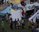 Haitianos en campo de refugiados