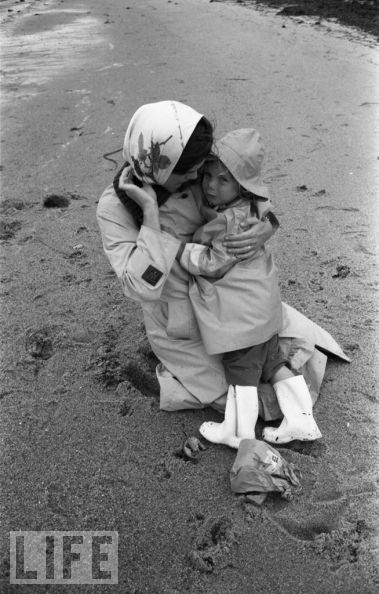 Jackie Kennedy y su hija Carolina