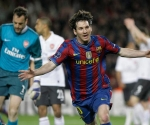 Lionel Messi ante el Arsenal