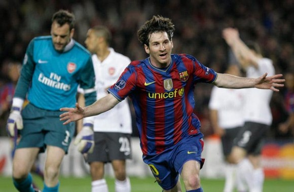 Lionel Messi ante el Arsenal
