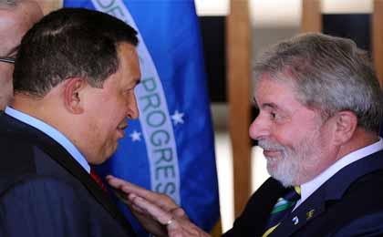 Lula y Hugo Chávez
