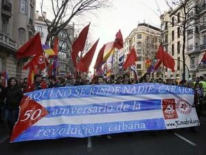 Manifestación en España denuncia acoso mediático contra Cuba