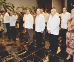 El General de Ejército Raúl Castro Ruz, Presidente de los Consejos de Estado y de Ministros, tomó juramento al compañero Darío Delgado Cura, quien asume esa nueva responsabilidad. Foto: Geovani Fernández