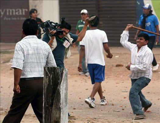 Periodistas en Honduras, represión