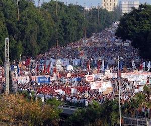 Una imagen de la Marcha del primero de Mayo del 2010.