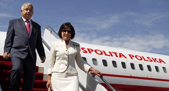 El Presidente polaco y su esposa.