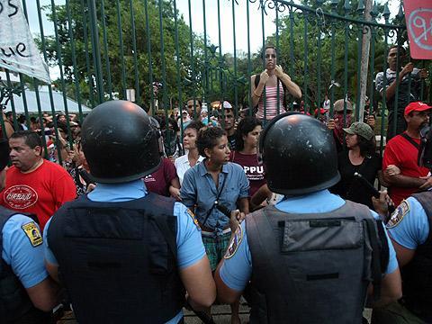 Huelga de estudiantes en Puerto Rico