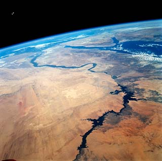 Imagen satelital del rio Nilo
