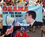 """Movimiento conservador """"Tea Party"""". Estados Unidos. Foto de archivo"""