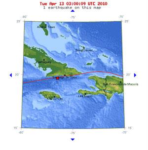 Temblor en Santiago de Cuba