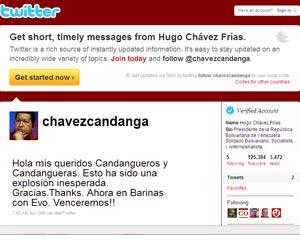 @Chavezcandanga supera los 600 mil seguidores y se ubica en el primer lugar de Twitter en Venezuela