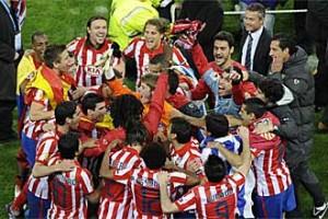 El Atlético festeja el triunfo europeo