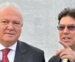 Bruno en Madrid con el Canciller español Moratinos. Foto: Archivo