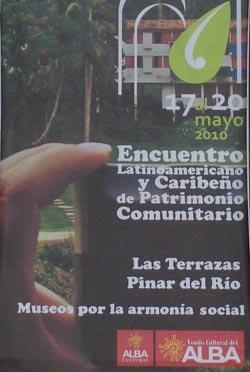 Evento Patrimonio de las Terrazas, Pinar del Río. Cuba. Cartel del Evento