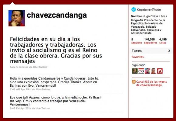 Felicitación del Presidente Chávez