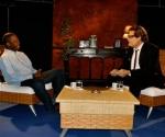 """Choco y Amaury Pérez en el programa televisivo """"Con 2 que se quieran"""". Foto: Peti"""