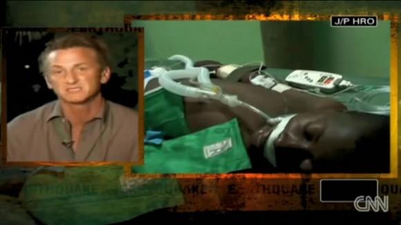 El progatonista de la película Milk se encarga personalmente de la recuperación de un joven enfermo de difteria en Puerto Príncipe (CNN).