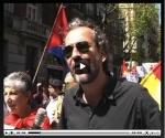 Willy Toledo en el acto de solidaridad con Cuba. Foto: Cubainformación