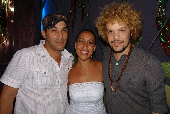 Francis de Río, Sory y David Torrens, tres artistas del catálogo de Bis Music, nominados a Cubadisco 2010. Foto: Marianela Dufflar