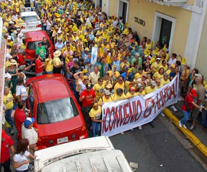 Puerto Rico, estudiante en huelga