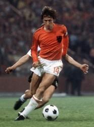 Jahan Cruyff en la final de la Copa Mundial 74 Alemania-Holanda