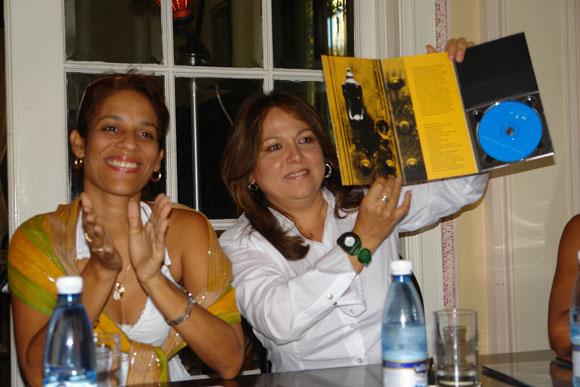 Presentación del disco Puertas de Liuba María Hevia. Foto: Marianela Dufflar
