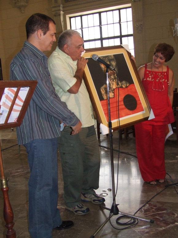 Homenaje a María Teresa Linares. Foto: Marianela Dufflar
