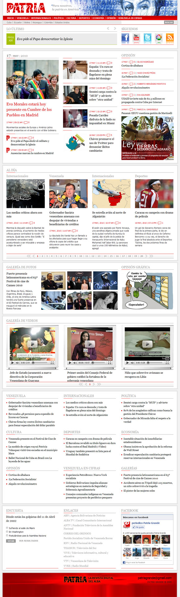 Patria Grande, Revista Digital del ALBA