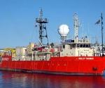 El barco de investigación chino Ridley Thomas, construido en 1981.
