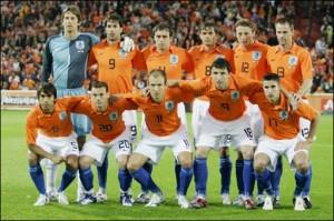 Selección holandesa de futbol  Foto de Archivo