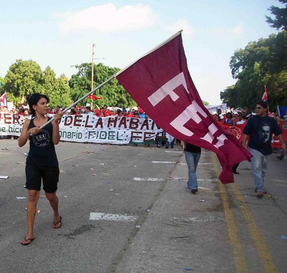 Una bandera, una organización, un mar de juventud