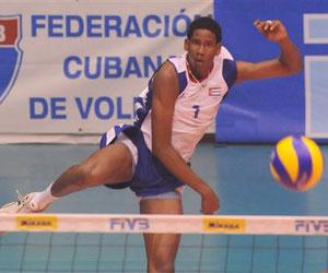 Wilfredo León, joven atleta de la selección nacional de Boleibol Masculino, Cuba