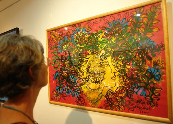 """Inauguración de la exposición """"La Danza Cósmica de Shiva"""", de Zaida del Río. Foto: Marianela Dufflar"""