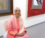 Alicia Alonso en Nueva York en la inauguración de la Exposición de retratos suyos realizados por pintores cubanos