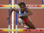Foto de Archivo; Anay Tejeda en los Juegos Olímpicos de Pekin. Ahora acaba de ganar con récord el Iberoamericano de Atletismo