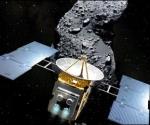 Ilustración del encuentro entre la sonda Hayabusa y el asteriode Itokawa. Foto AFP